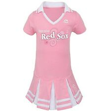 "BOSTON RED SOX PINK NEW GIRLS CHILDREN'S PREPPY ""POLO"" DRESS SIZE S M L"