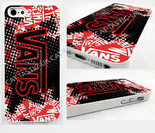 VANS IPHONE 4/4S/5/5s/5C/galaxy S2,S3,S4,S5 HARD CASE,COVER Stickerbomb red