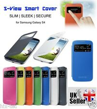Slim S-VIEW PU Leather Wallet Flip Case Phone Cover For Samsung Galaxy S4 I9500