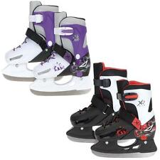 XQ MAX ADJUSTABLE SIZE GIRLS BOYS ICE SKATES ICE SKATING BOOTS SHOES PRO BLADES