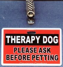 THERAPY DOG ASK B4 PET service dog vest clip