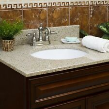 Wheat Granite Vanity Tops with Vanity Sink (6 sizes available)