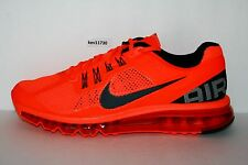 AUTHENTIC Nike Air Max+ 2013 Orange Red White Black Silver # 554886 801 mens