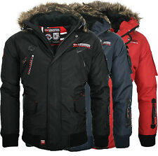 Geographical Norway Caffe warme Herren Jacke Winter Outdoor Funktions Parka NEU