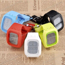 1pc Unisex Touch Screen LED Light Dial Candy Color Soft Silicone Wrist Watch Hot