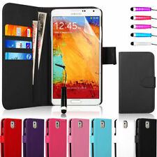 Leather Flip Wallet Case Cover Pouch For Samsung Galaxy Note 4
