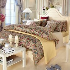 BOHO paisley bed sheet DOONA duvet cover comforter pillowcase LUXURY HOTEL SET