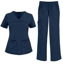 CHEROKEE Pro-Flexibles NAVY SCRUB 2PC SET=TOP/2968+PANT/2085 Soil Release NWT