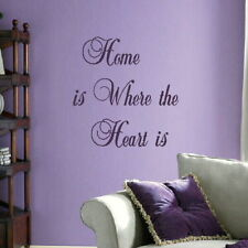 Home Is where The Heart Is Large Vinyl Wall Quote Big Vinyl Quote QU12