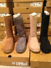 Auth. UGG Australia Classic Tall Boot Black , Gray, Sand, Chest & Choc  SZ. 6-9