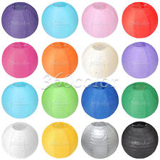 "5 Round Paper Lanterns Lamp Wedding Supply Xmas Party Venue Decor 8"" 10"" 12"" 14"""