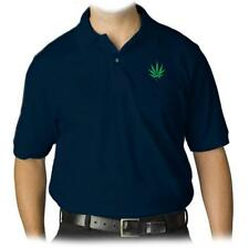 NEW MENS PRINTED Addicted Marijuana Dope Weed COLLAR POLO GOLF T-SHIRT FUNNY MMA