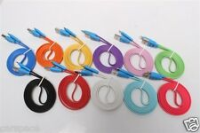 1M USB sync date flat LED smile face charging cable for Iphone 5 Iphone 5C Ipad3