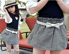Kid Toddler Girl Clothes Trousers Leggings Short Tutu Divided Dress Ages 2-7Y