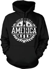 America Liberty And Justice For All USA Flag Stars Stripes Hoodie Pullover