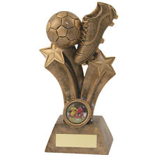 football Award resin star, boot and ball football trophy free engraving