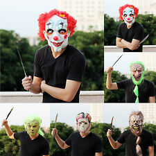Scary Terror Horror Halloween Costume Party Face Mask Clown Adult Rubber Latex