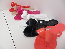 Jelly Sandals Flip Flop Flats Valentino Ribbon Italy by Victoria Adames