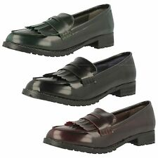 LADIES SYNTHETIC LOAFER SHOES (SPOT ON F9727)