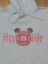 Firefighters Dedicated Wife 24-7 - Hoodie Maltese - Fire Life, Roses, Heart
