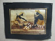 AFRICAN BANANA LEAF ART - Handcrafted Kenya - Village Life Men Women SELECT ONE