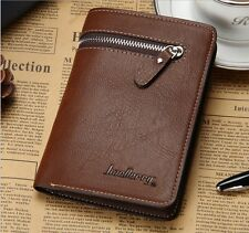 Hot Zip Money Clip Pockets Credit/ID Card Holder Clutch Bifold Mens Purse Wallet