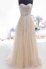 Cheap Champagne Prom Dresses Long Evening Dress Party Dress Stock us size 2~16
