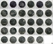 2011 Various (Circulated) Olympics 2012 50p Coins inc Commonwealth Games 50p