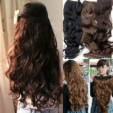 Chic Casual Full Head Clip Curly/ Wavy Women Synthetic Hair Extension Extensions