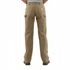 NEW CARHART Relaxed Fit Canvas Carpenter Work Pants Womens 10 & 14 x30 Khaki NWT