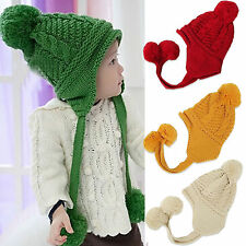Best New Crochet Baby Toddler Girl Boy Toddler Winter Warm Hat Cap Ears Protect
