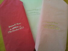 100 Personalised Napkins / Serviettes for Wedding or any occasion