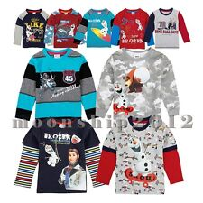 Cute Baby Kids Boys Hot Frozen Olaf Print Fall Long Sleeve T-Shirts Tops 1-6Y