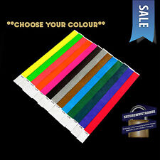 200 x Tyvek, Party, Event, ID Wristbands *Choose Your Colour* *SALE* 13 COLOURS