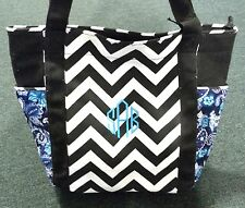 Personalized Chevron Paisley Canvas Tote Diaper Bag FREE MONOGRAM Embroidery