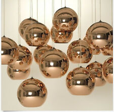 Tom Dixon Copper Gold Shade Mirror Glass Ball Pendant Lighting Chandelier Light