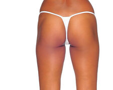 White Bridal G-String Thong Panties. Sexy Panties. Made in the USA. One Size.