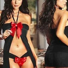 Sexy and Fashion Bowknot Lingerie Open Front Skirt-Underwear + Babydoll Dress