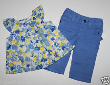 baby Gap NWT Girl's 6 12 18 Mo. Outfit Set Baby Doll Top w/ Blue Knit Waist Jean