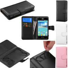 BOOK WALLET PU Leather Card Slots Pouch Phone Cover Case G-11 for LG SmartPhone