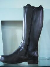Bristol01 Rubber Knee High Side Zipper Buckle Riding Rain Wellies Galoshes Boots