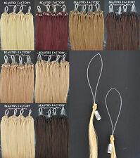 "Straight Micro Bead Loop Ring Remy Human Hair Extensions 20"" 8 Color 100 Strands"