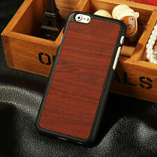 """HOT Wood Grain PU Leather Hard Back Case Cover for Apple iPhone 6 4.7""""/Plus 5.5"""""""