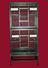"""Double Stacked Bird cage FOR COCKATIELS, PARAKEETS, FINCHES  32""""x21""""x74"""""""