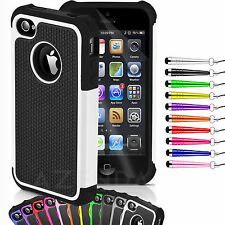 STYLISH SHOCK PROOF SERIES CASE COVER FOR IPHONE 4 & 4S
