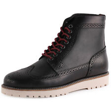 Fred Perry B5224 Hortgat Boot Mens Leather & Suede Black Ankle Boots New Shoes