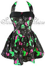 Hell Bunny Dress Black I Heart Zombie Halloween Unicorn Party Size 6-26 XS-4XL