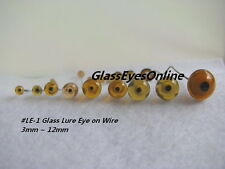 10 PAIR Choose 3mm to 10mm Glass Eyes on Wire Fish lure, primitive, carve  LE-1
