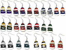 snowman holiday earring dangle NFL Pick your team