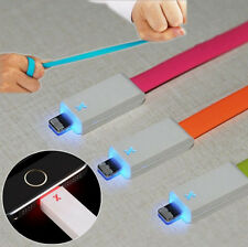 Bright Lightning USB Led Light Cable Charger Flat Cord For iPhone 5 5S 5C 6 Plus